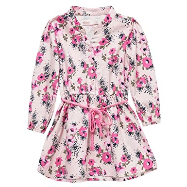 OFFCORSS Long Sleeve Flower Girl Dresses Vestidos para Niñas Manga Larga Pink 2T
