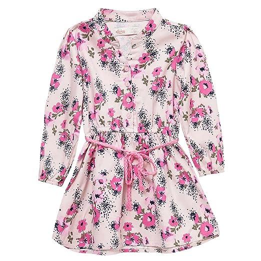 OFFCORSS Long Sleeve Flower Girl Dresses Vestidos para Niñas Manga Larga Pink 2T