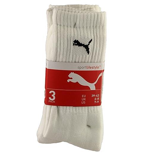 Amazon.com  Puma Crew Socks 3 Pair Pack Mens Socks (7-9 US) (White)  Sports    Outdoors 2678df583