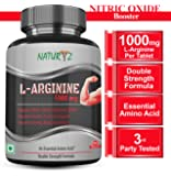 Naturyz L-Arginine 1000mg tablet - Pre workout Supplement with Nitric oxide booster- 60 tablets