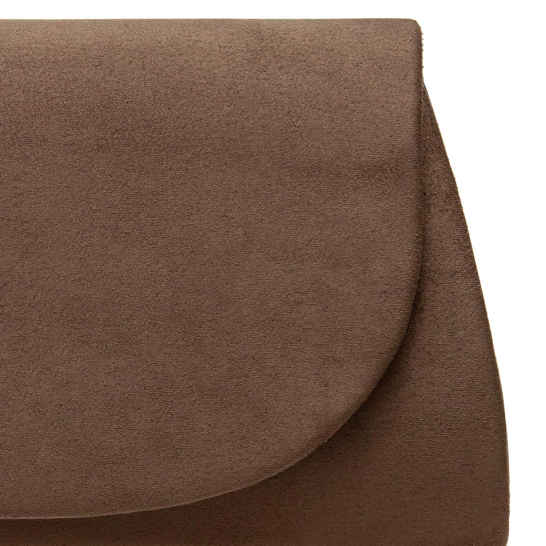 pochette de soir/ée sac /à main Caspar TA525 Sac de soir/ée enveloppe pour femme en tissu velours