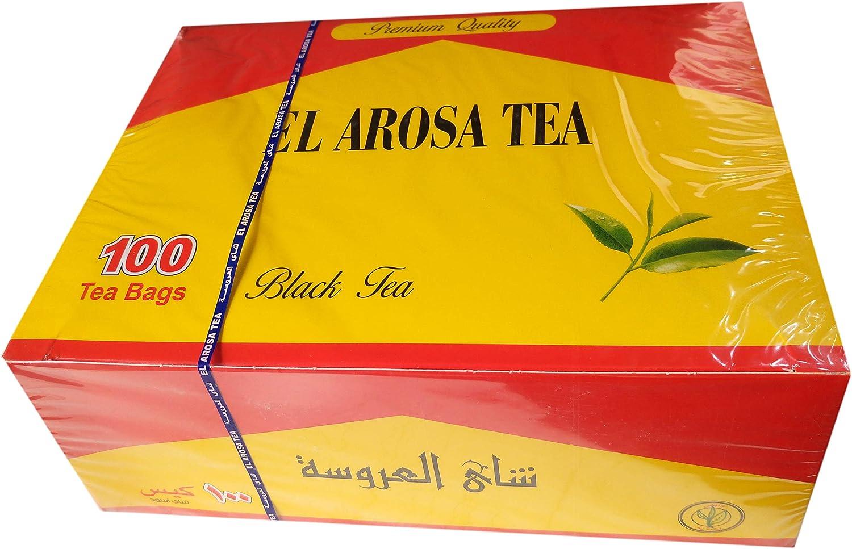 Egypt El Arosa Kenyan Black Dust Tea Bags Envelope Natural Daily Healthy Tea Cup (100 Tea Bags)