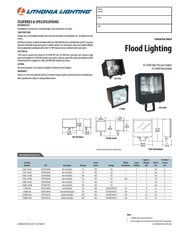 Lithonia Lighting F400ml SCWA 1-Light Metal Halide Outdoor Flood Light