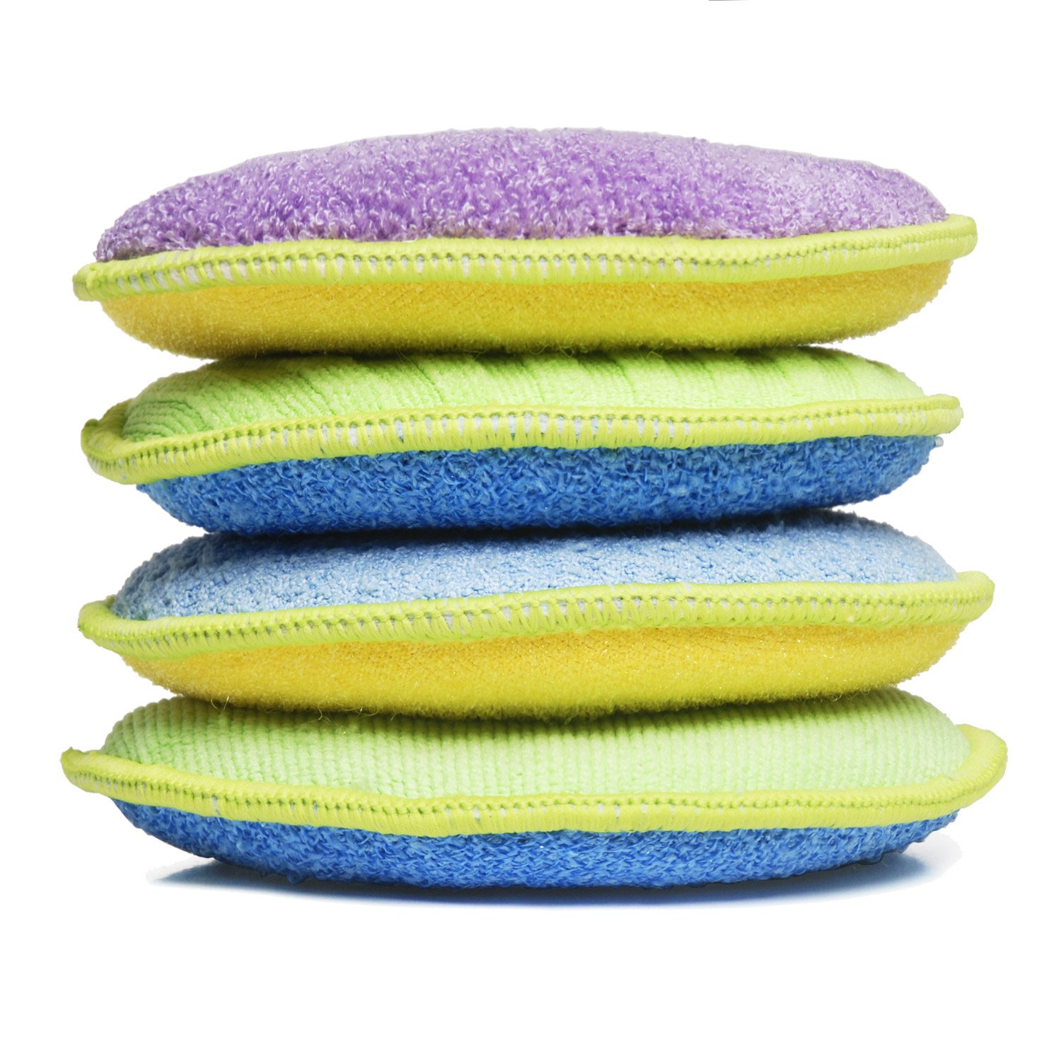 Starfiber Microfiber Kitchen Scrubbies, 4-Pack LCM Team - Starfiber amz-donut
