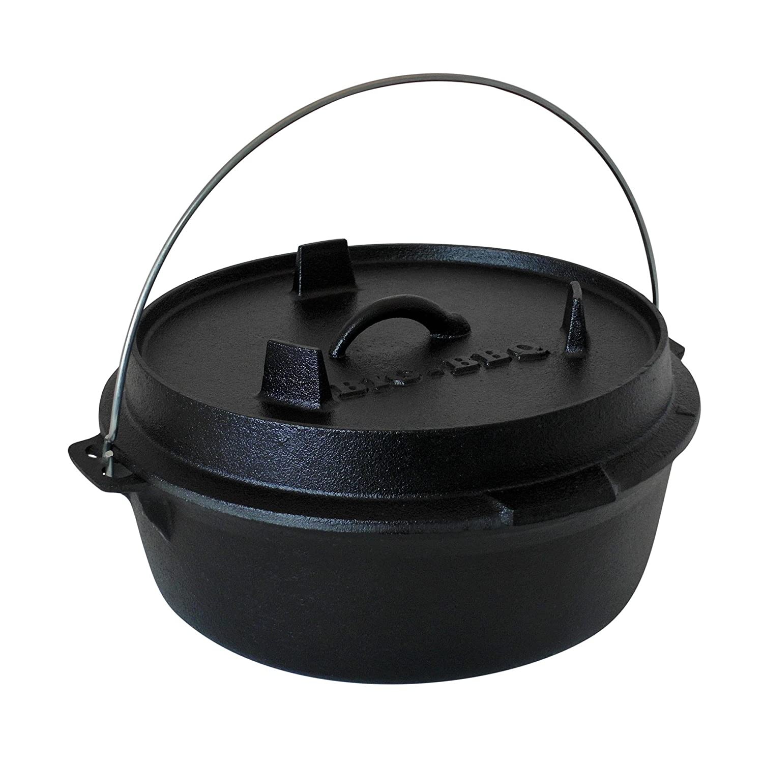 ToCis Big BBQ DO 4.5 Premium Dutch-Oven made of cast-iron | Pre-Seasoned 10' cast iron cooking pot | with lid lifter and lid stand | without legs