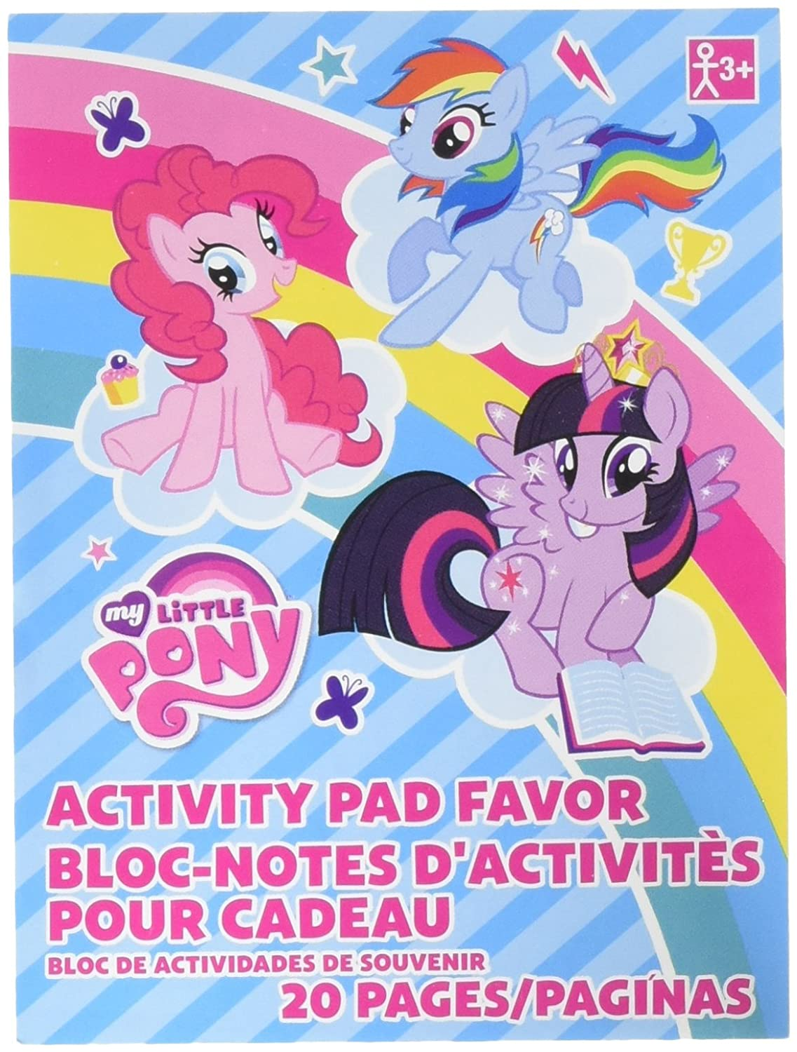 Amazon.com: Amscan My Little Pony Coloring Book   Party Favor   48 ...