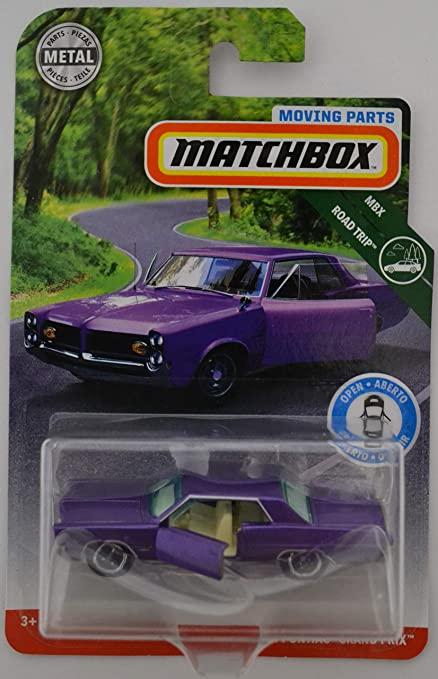 Amazon.com: Matchbox Purple 64 Pontiac Grand Prix 2018 Moving Parts Road Trip Series 1:64 Scale Collectible Die Cast Metal Toy Car Model with Opening ...