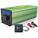 EDECOA Pure Sine Wave Power Inverter 2500W Peak 5000W DC 12V to 110V AC with LCD Display and Remote Controller with Dual USB Ports