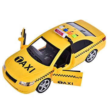 Toy Taxi Friction Powered Fun Little Toys Black And
