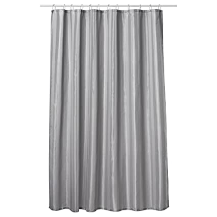 Extra Long Shower Curtain 72 X 78 Inch Gamma Dove Gray Fabric