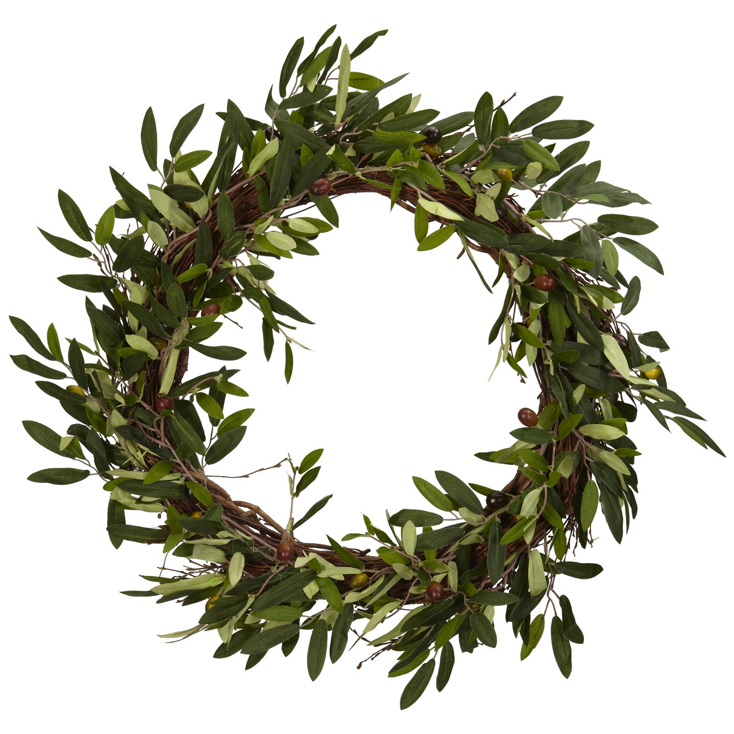Nearly Natural 4773 20in. Olive Wreath by Nearly Natural