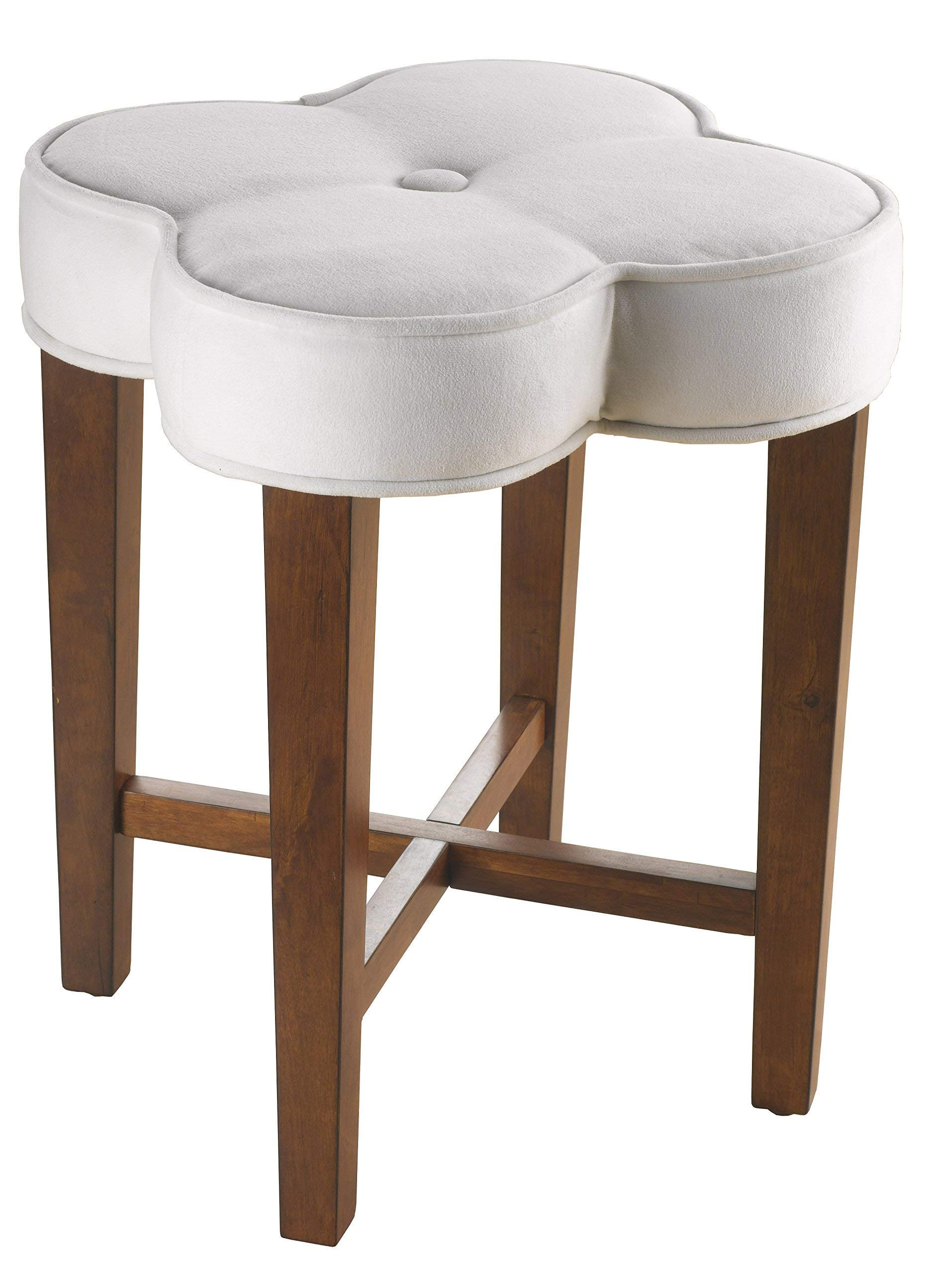 Hillsdale Furniture Clover Vanity Stool, White by Hillsdale Furniture