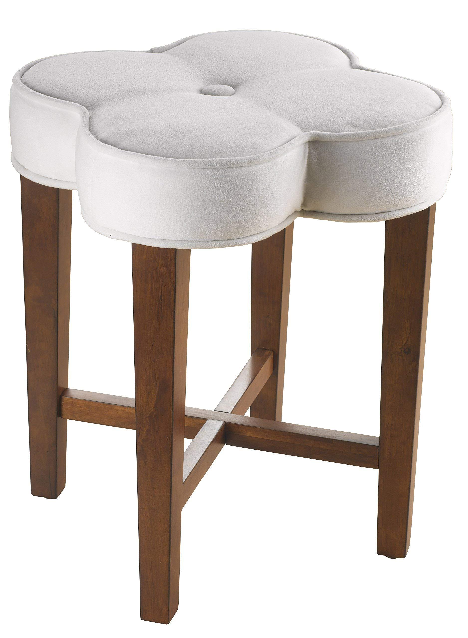 Hillsdale Furniture 50958 Clover Vanity Stool, White