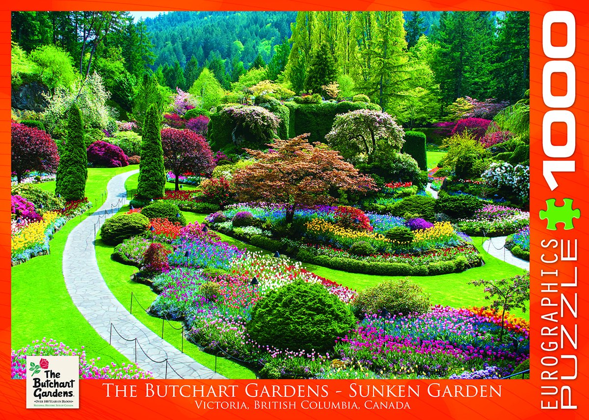Amazon eurographics butchart gardens sunken garden jigsaw amazon eurographics butchart gardens sunken garden jigsaw puzzle 1000 piece toys games thecheapjerseys Image collections