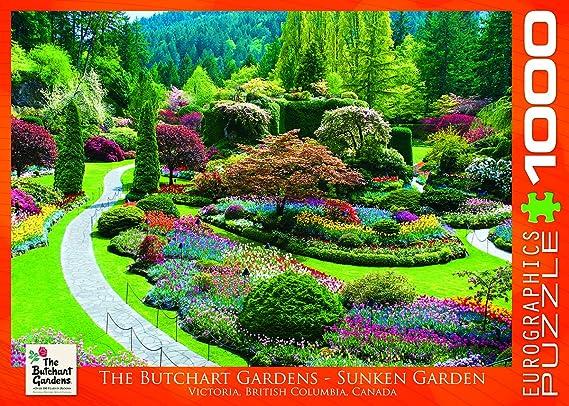 Amazon.com: EuroGraphics Butchart Gardens - Sunken Garden Jigsaw ...