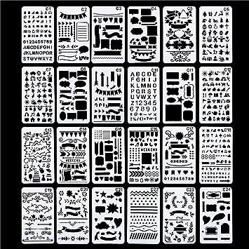 Amazon Com Lokipa Plastic Stencils Templates Set With Airbrush