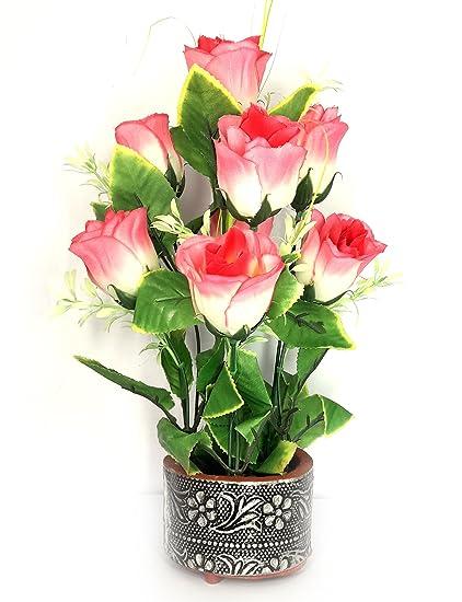 buy urvi creations artificial pink rose flower bunch bouquet