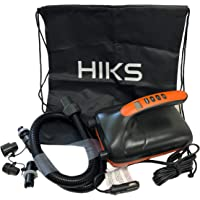 HIKS Products Electric Paddle Board SUP Pump 20psi 12V With 4 Adapters and Easy Carry Bag