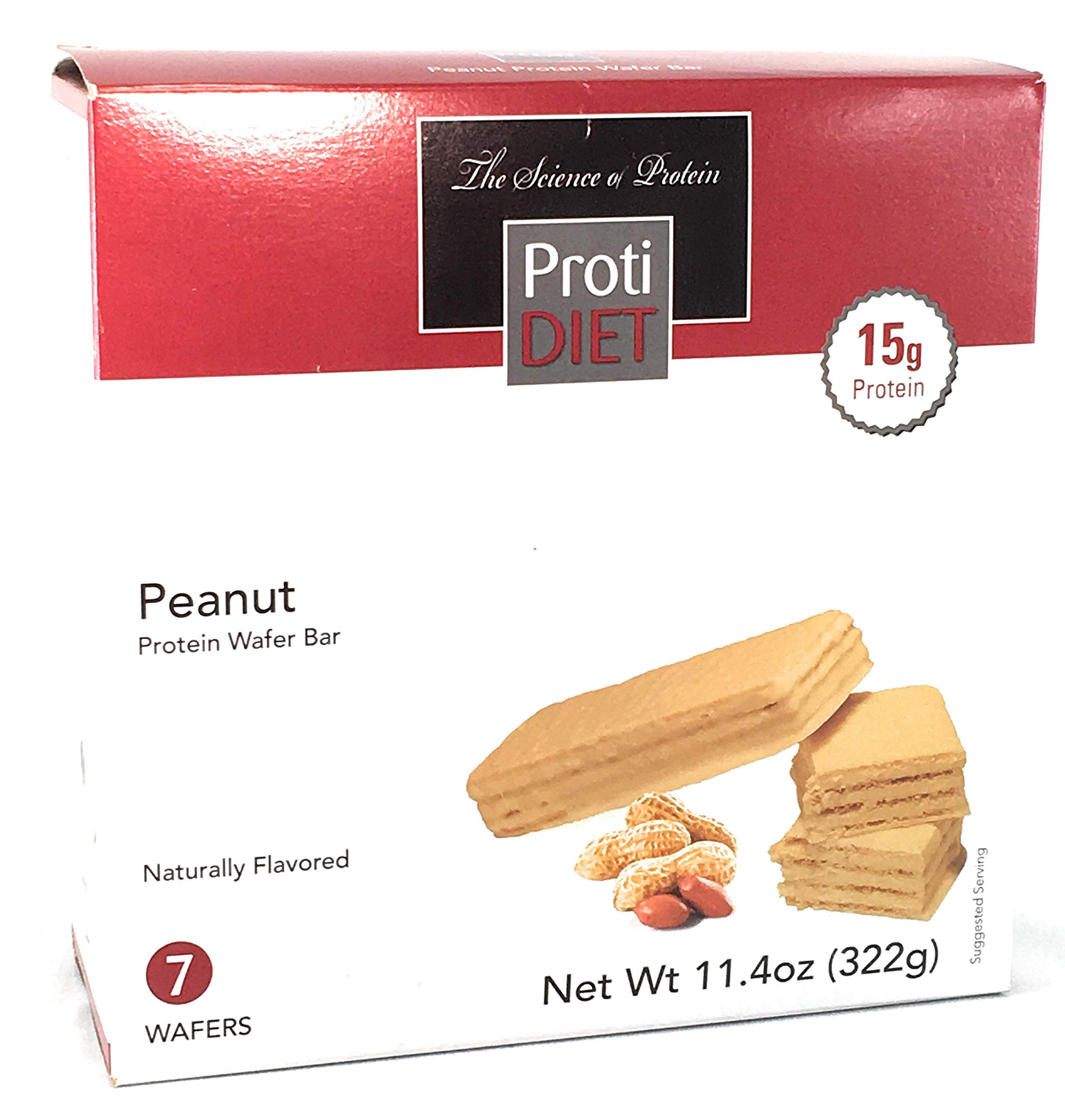 Proti Diet Peanut Wafer Bar - by Being Well Essentials - 7 wafers - 15g Protein (6 Pack -42 wafers)
