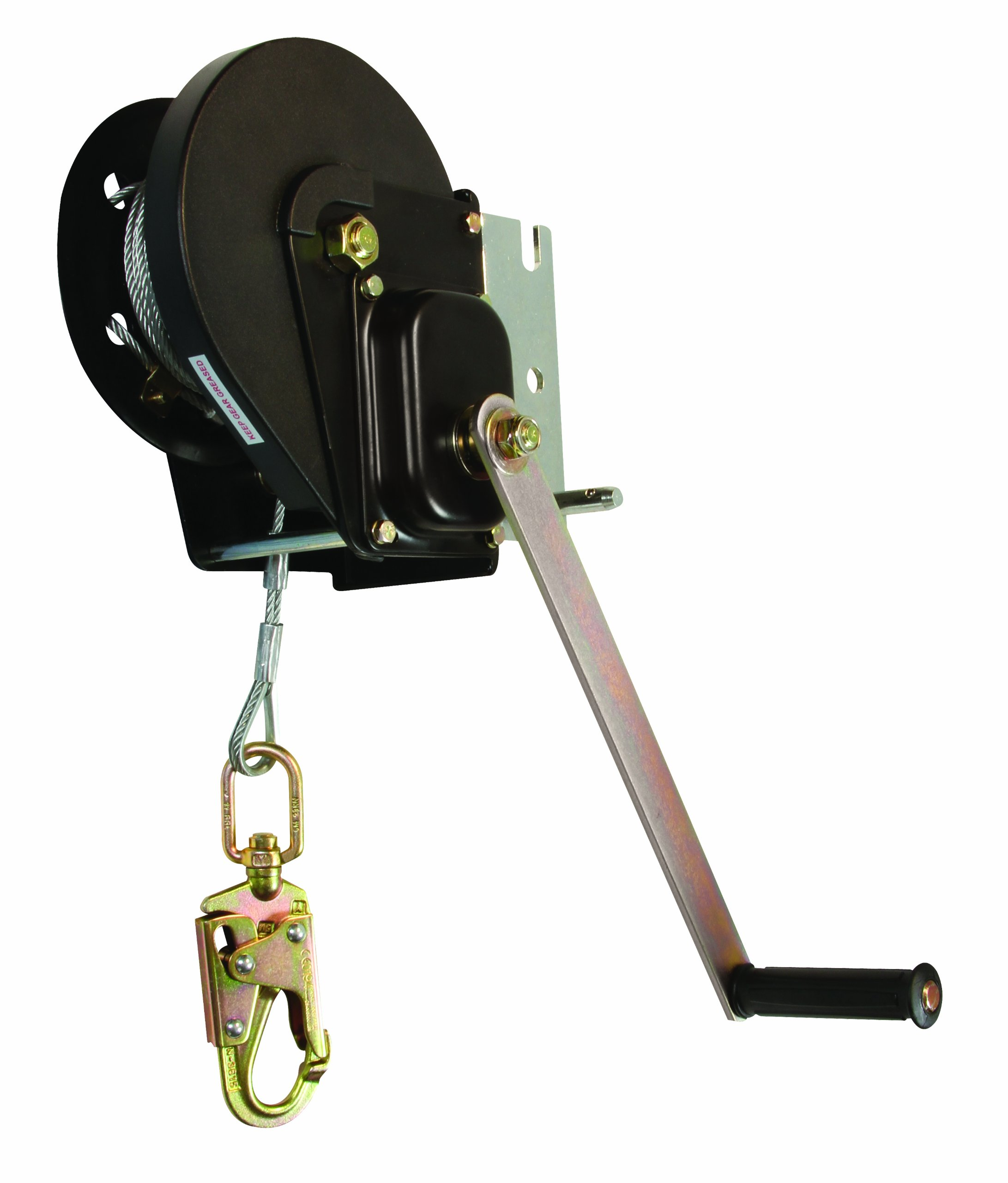 FallTech 7293 Confined Space Winch - Personnel Winch with Galvanized Cable and Storage Bag, 60', Black