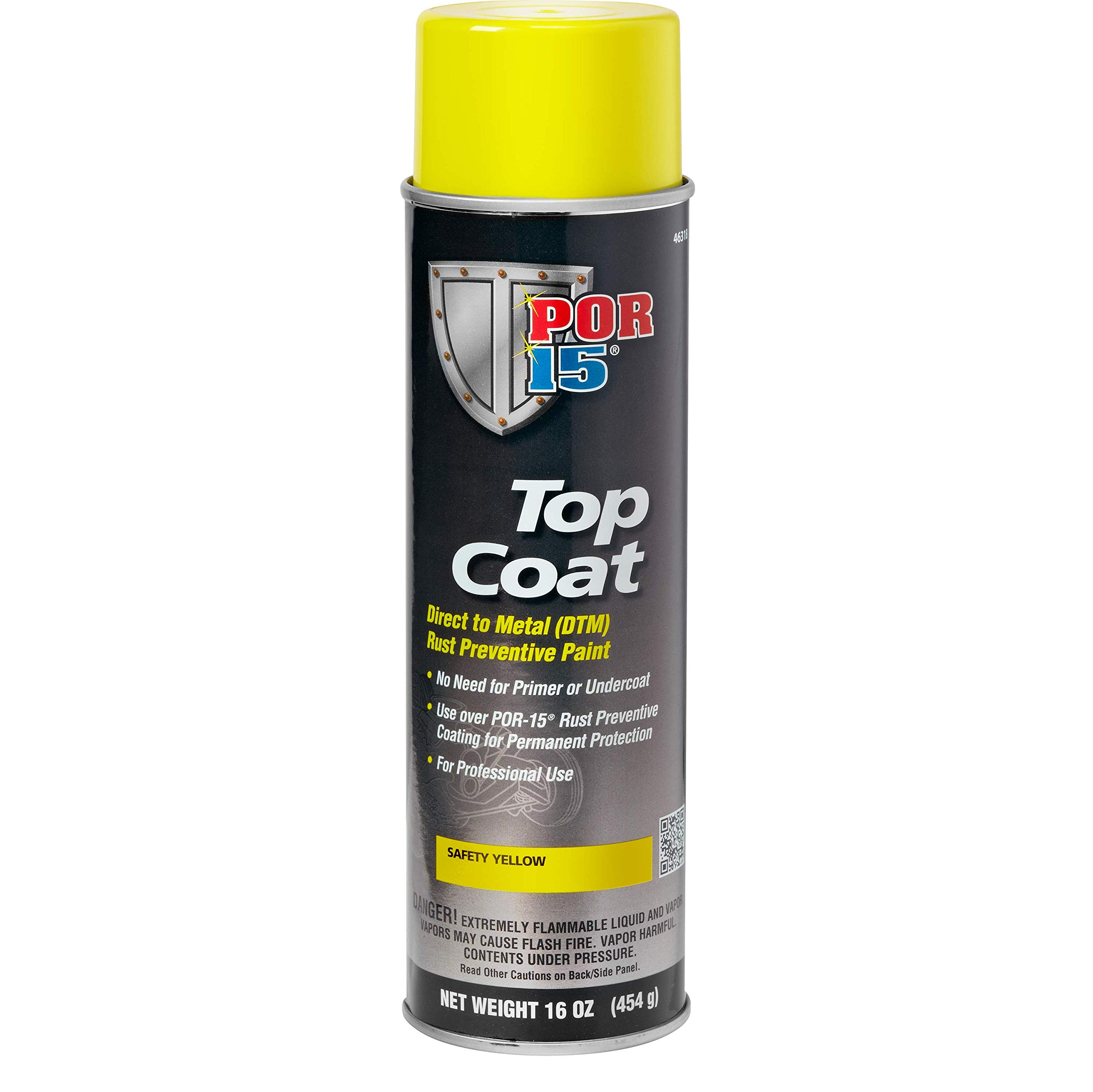 POR-15 46318 Top Coat Safety Yellow Spray Paint, 16. Fluid_Ounces