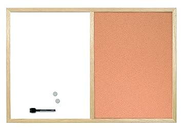 Pizarra Combinada de Doble Uso, Blanca Magnética y Corcho ...