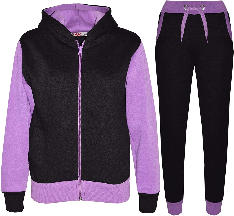 Kids Tracksuit Girls Boys Fleece Hooded Hoodie Bottom Jogging Suit Jogger 2-13Yr: Clothing