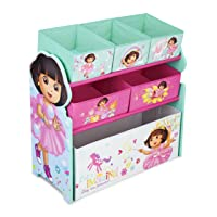 Deals on Delta Children Multi-Bin Toy Organizer, Nick Jr. Dora The Explorer