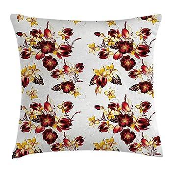 Amazon.com: Emiqlandg - Funda de cojín con diseño de flores ...