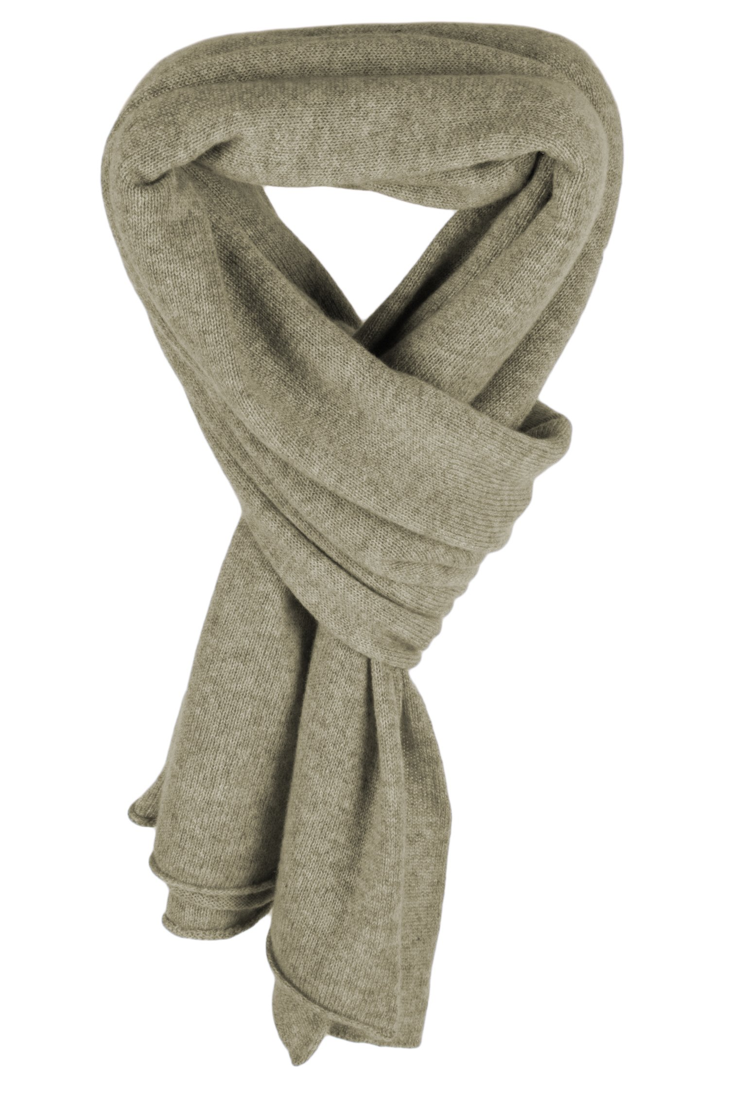 Ladies Cashmere Mix Wrap Scarf - Olive Leaf Green - made in Scotland by Love Cashmere RRP $290