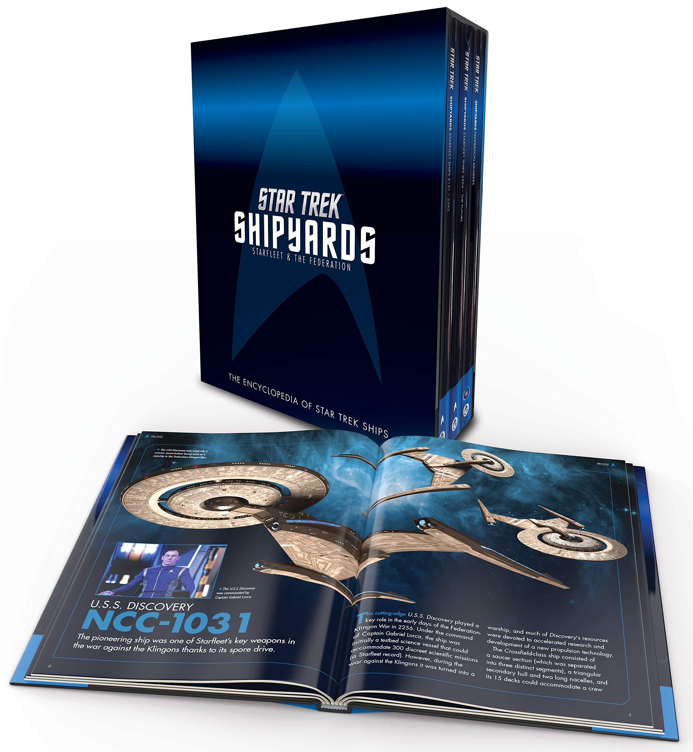 Amazon Com Star Trek Shipyards Starfleet And The Federation Box Set 9781858756066 Robinson Ben Riley Marcus Books