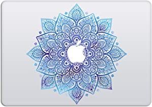 Laptop Stickers MacBook Decal - Removable Vinyl w/Glowing Apple Logo Diecut - Mandala Decal Blue Sticker Night Sky Skin for MacBook Air Pro 13 15 inch Mac Retina - Best Decorative Sticker by Artsybb
