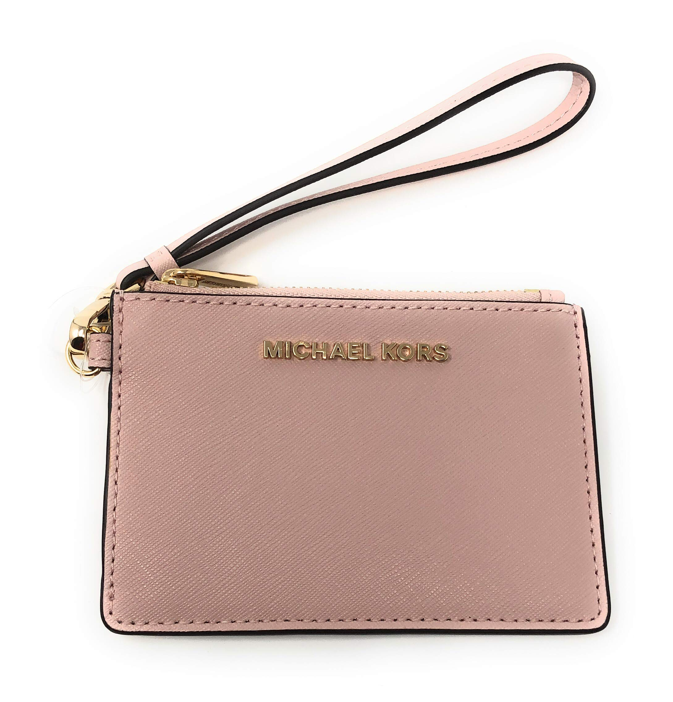 Michael Kors Jet Set Travel Top Zip Coin Pouch ID Card Case Wallet Wristlet (Blossom/Fawn)
