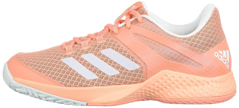 adidas Women's Adizero Club w Tennis Shoe B071LGK6F4 8.5 B(M) US|Chalk Coral/White/Blue Tint