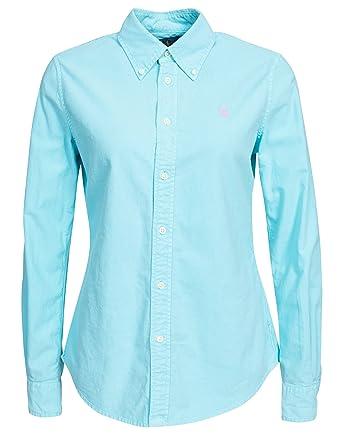 218b0345663d7b Polo Ralph Lauren Damen Harper LS Hemd   Hemdbluse Blue X-Large ...