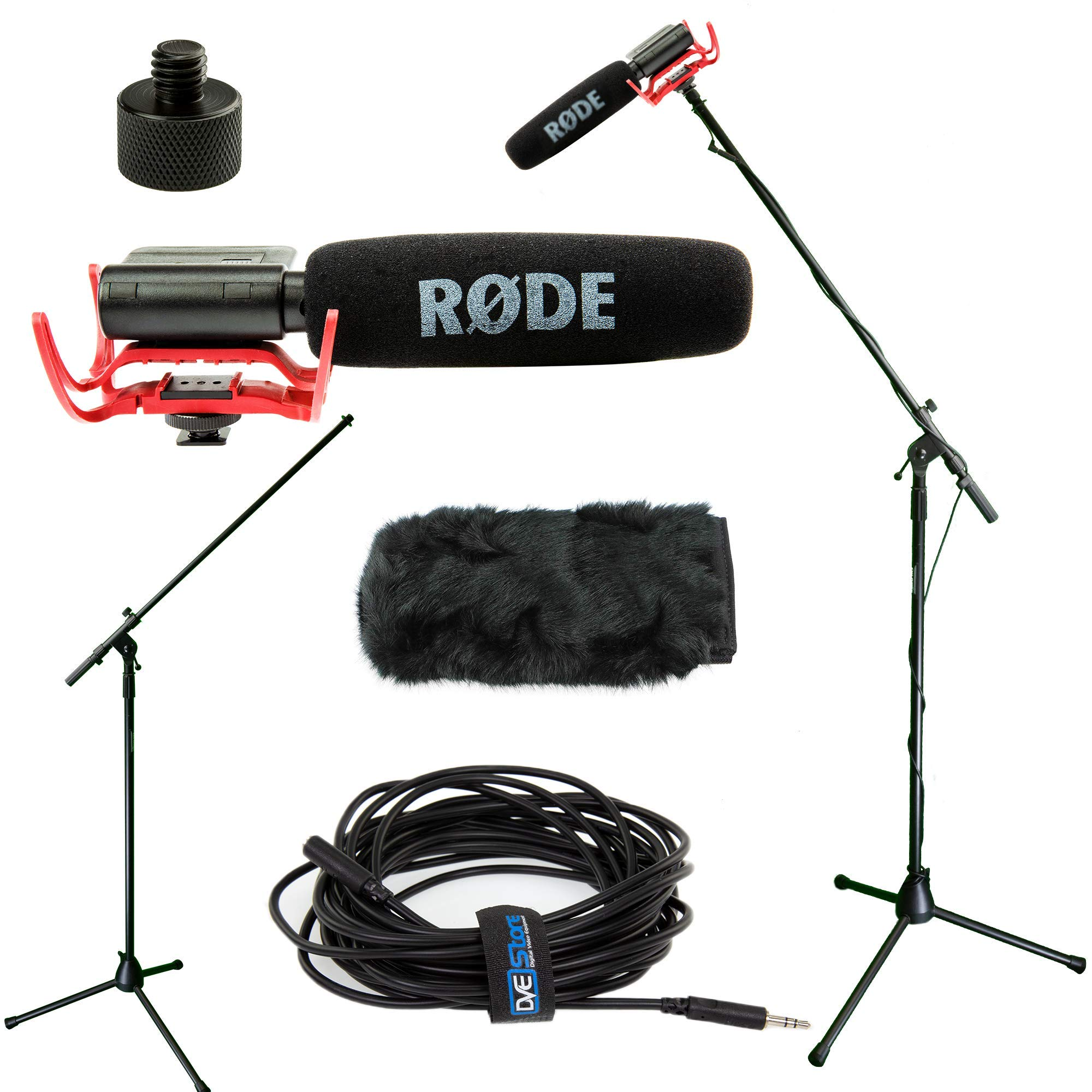 RODE VideoMic Studio Boom Kit with windmuff- VM, windmuff, Boom Stand, Adapter, 25' Cable by Rode