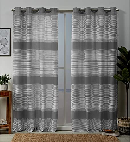 Exclusive Home Curtains Kadomo Striped Grommet Top Curtain Panel Pair