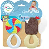 Little Toader - Baby Teether Toys – Appe-TEETHERS LOL! Sucker and Ice Cream U Scream combo pack candy teether - For…