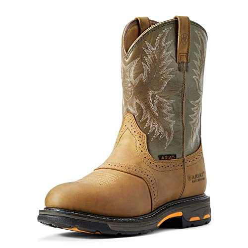 642789a8e5f ARIAT Men's Workhog Pull-on Waterproof Pro Work Boot