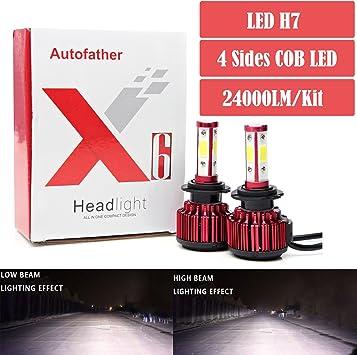 2x 160W Dual Color H10 9145 9140 LED Fog Light Driving Bulbs White+Amber Yellow