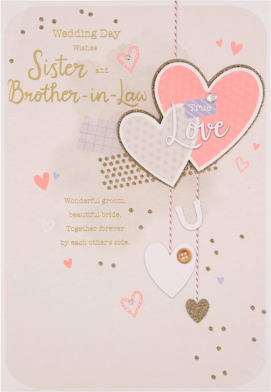 Hallmark Hearts and Dove/'s Glitter Stickers