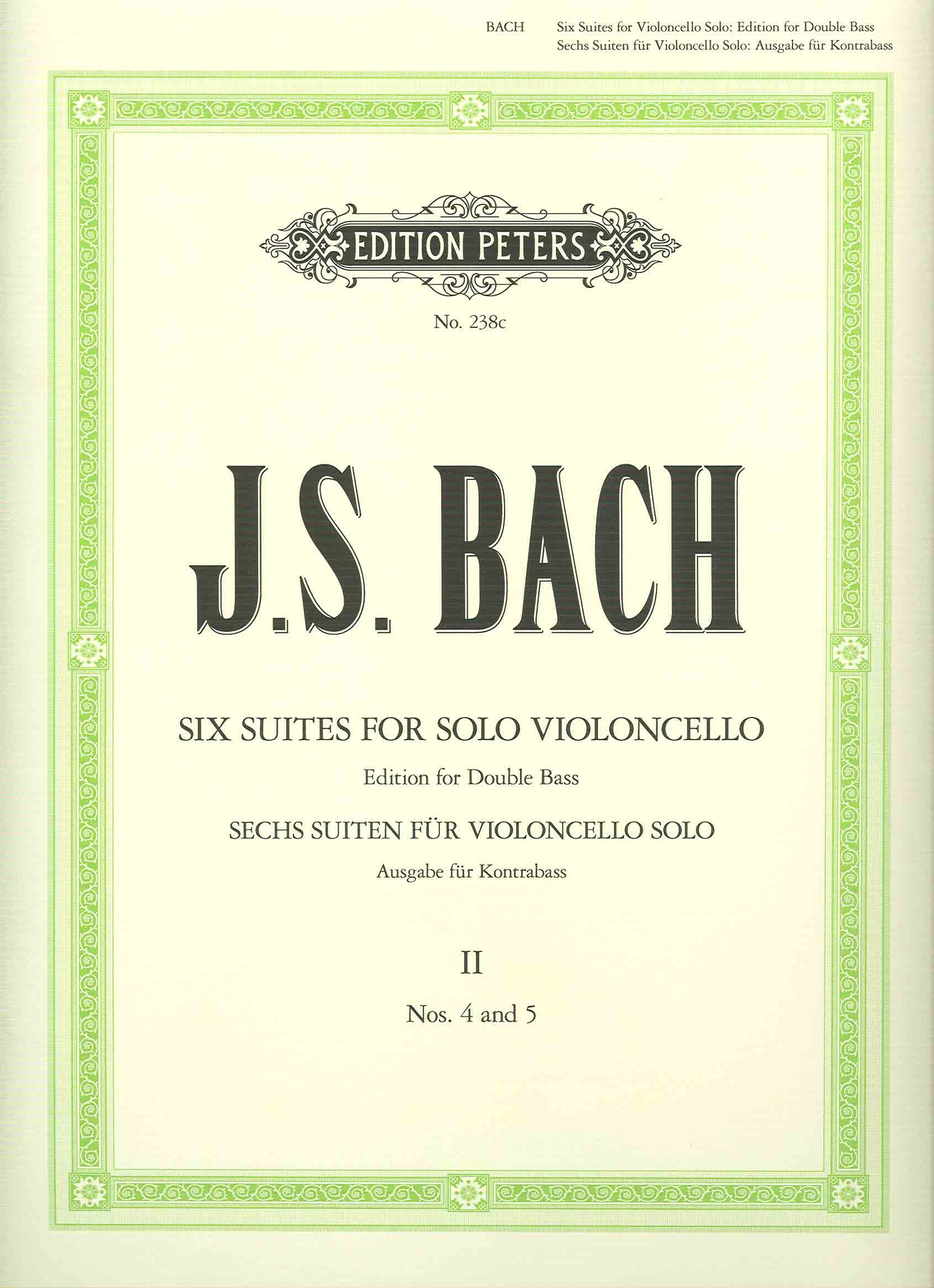 Six Suites for Solo Violincello: Edition for Double Bass), Vol. 2 (No. 4 and 5) pdf
