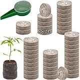 ZeeDix 50 Pcs (40mm) Peat Pellet Fiber Soil Plant Seed Starters - Plugs Pallet Seedling Soil Block, Seed Fertilizer Nutrient
