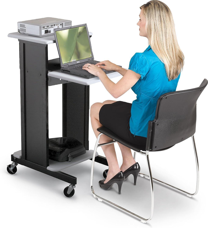 BALT Adjustable Presentation Cart, 18w x 30d x 40-1 4h, Black Gray