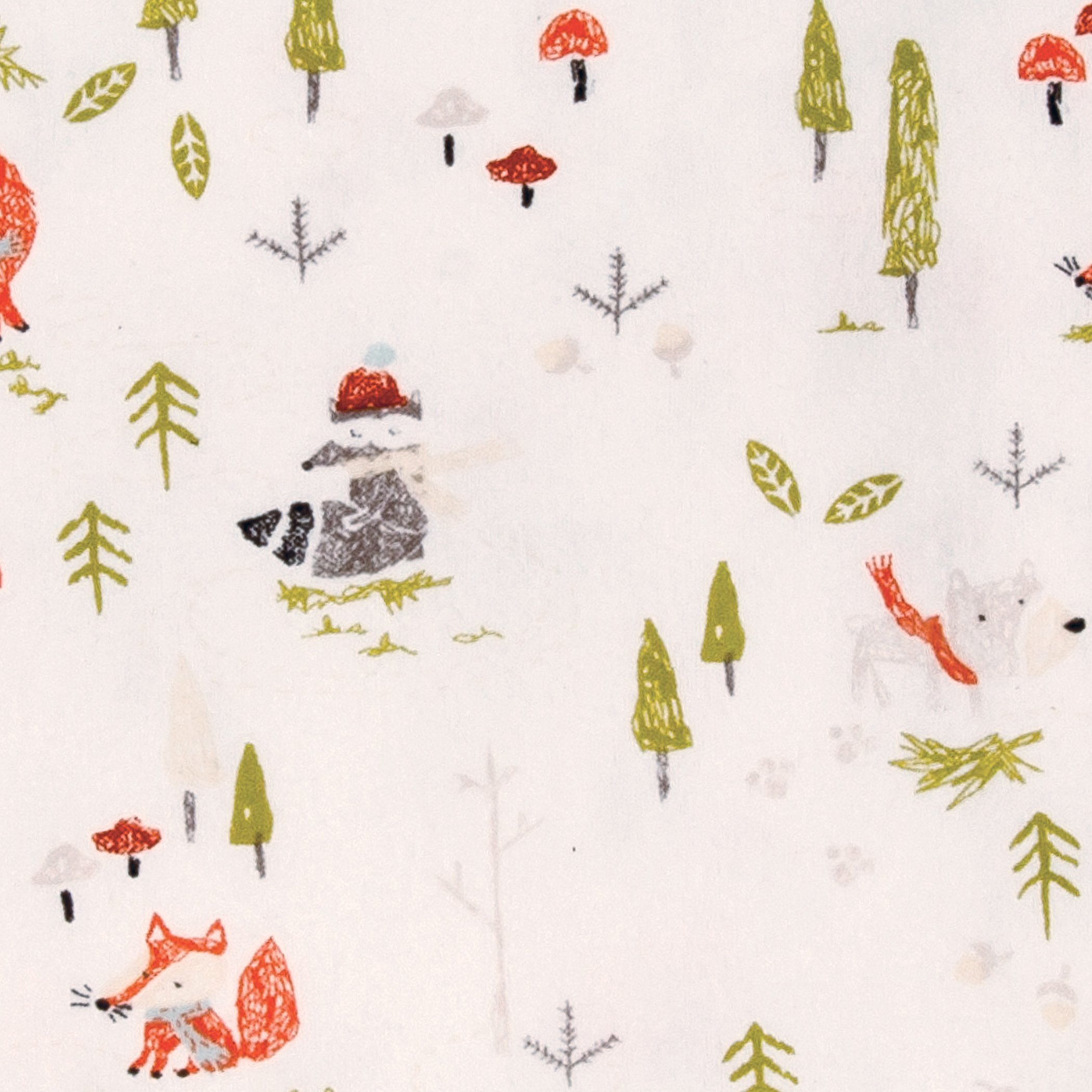 Trend Lab Winter Woods Deluxe Flannel Fitted Crib Sheet, Multi by Trend Lab (Image #2)