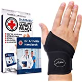 Doctor Developed Premium Copper Lined Wrist Support / Wrist Strap / Wrist Brace / Hand Support [Single] & Doctor Written Hand