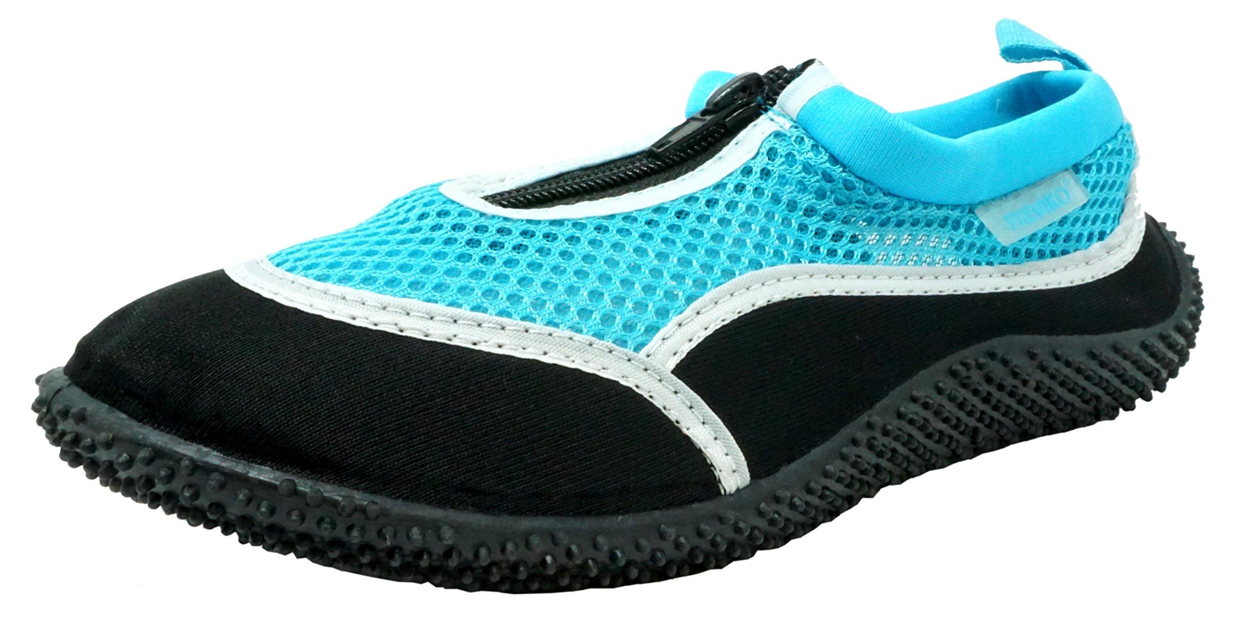 Fresko Women's Water Shoes, L1288, Black/Turquoise, 10 M US