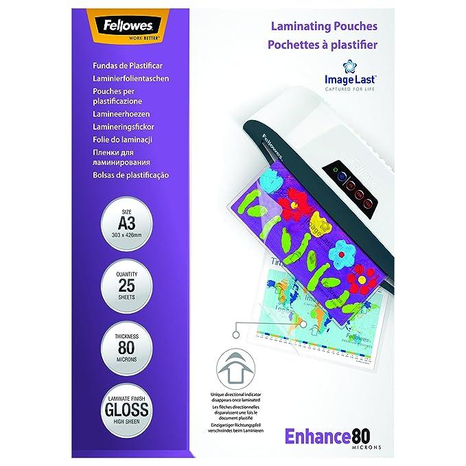 150 opinioni per Fellowes 5396403 Pouches Lucide Enhance80,Formato A3, 80 Micron, Confezione da