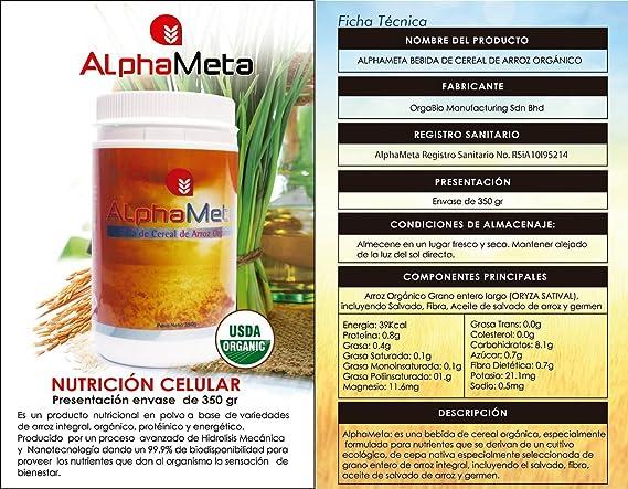 AlphaMeta. Una alta reemplazo de comida nutricional! La mejor opción para la salud y vitalidad de usted y su familia: Amazon.es: Hogar
