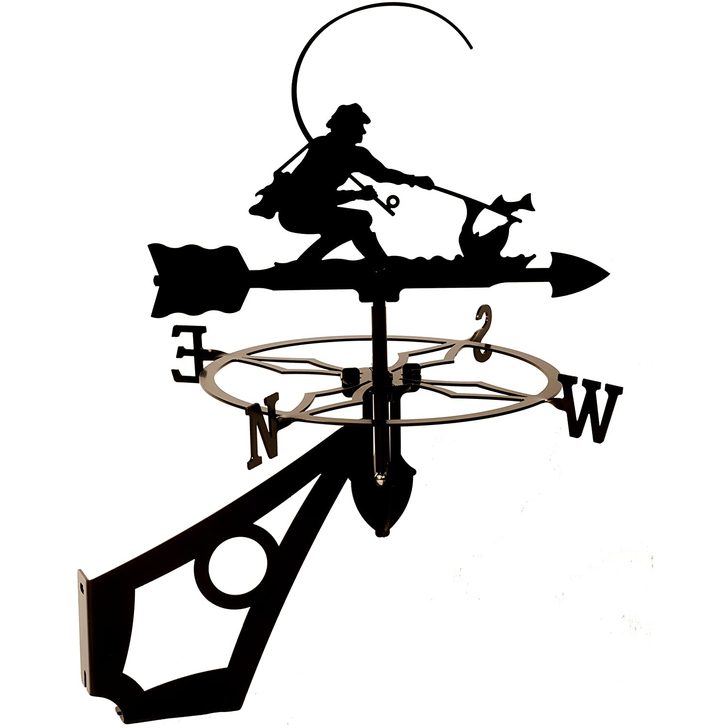 Dragon Laser Ltd. W140BLK Fisherman, Fishing Weathervane